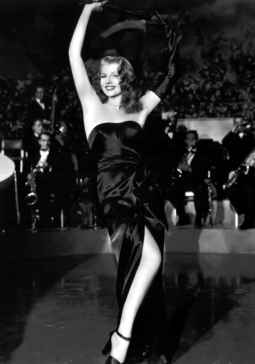 From the famous scene of her cabret number, this gown is the trademark of Gilda.